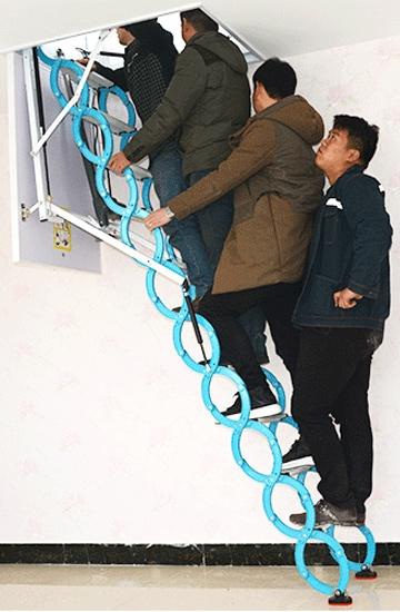 上海碳钢伸缩楼梯