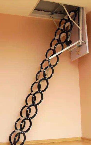 生产厂家讲解你一定要知道的阁楼电动伸缩楼梯的利与弊