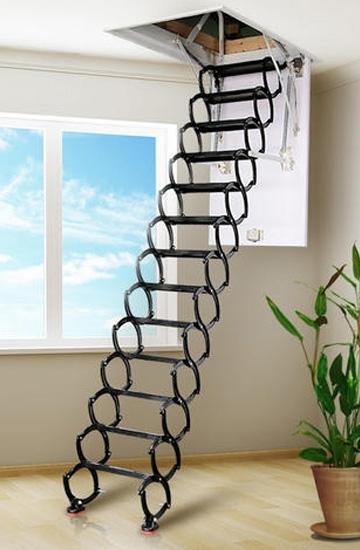 碳钢全自动伸缩楼梯安装有哪些讲究?
